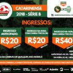 Informações de ingressos para Camboriú x Metropolitano